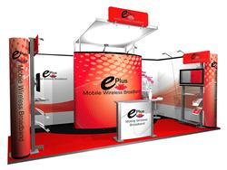Mobile Messewand mit Messestand