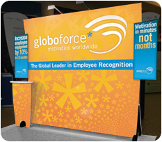 Globoforce Exhibition Fabric Display