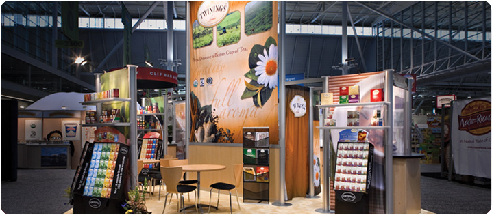 Exhibition Stand with Giveaways