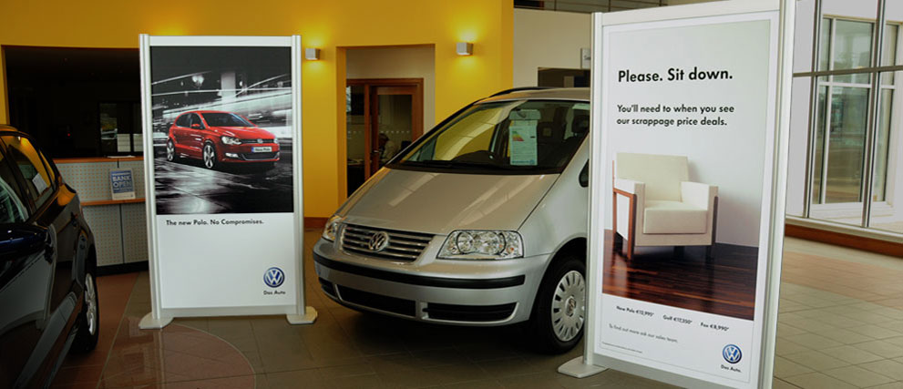 Automotive Showroom Portable Display