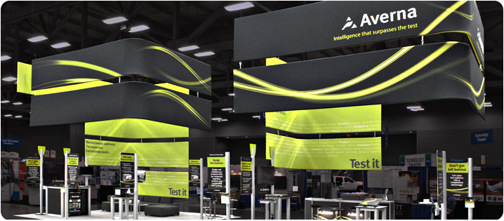 Fabric Exhibition Stand Builders : Hanging signs & tension fabric displays fabric signs for exhibits